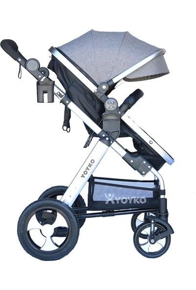 Yoyko Luxury Bebek Arabası 2 In 1 Gri Silver