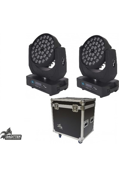 Sagitter 36x10W RGBW/FC Zoom Led Moving Head Çift Fiyattır (Case Dahil)