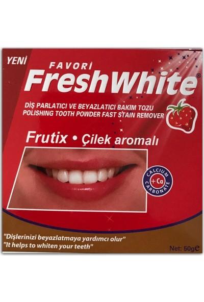 Fresh White Diş Parlatıcı Ve Beyazlatıcı Bakım Tozu 50 gr