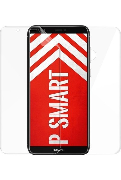 Magazabu Huawei P Smart 2018 Ön Arka Full Body Kavisli Tam Kapatan Ekran Koruyucu