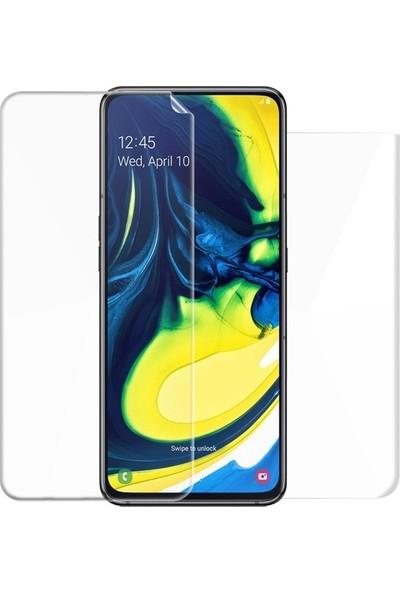 Magazabu Samsung Galaxy A80 Ön Arka Full Body Kavisli Tam Kapatan Ekran Koruyucu