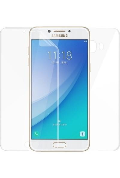 Magazabu Samsung Galaxy C7 Pro Ön Arka Full Body Kavisli Tam Kapatan Ekran Koruyucu