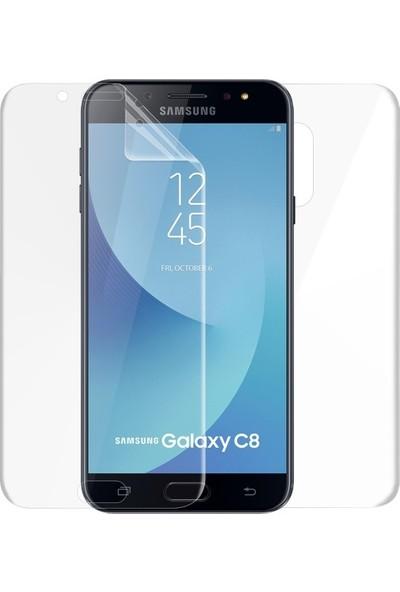Magazabu Samsung Galaxy C8 Ön Arka Full Body Kavisli Tam Kapatan Ekran Koruyucu