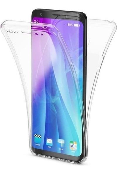 Magazabu Samsung Galaxy S9 Plus Kılıf Şeffaf 360 Derece Tam Kaplayan Silikon