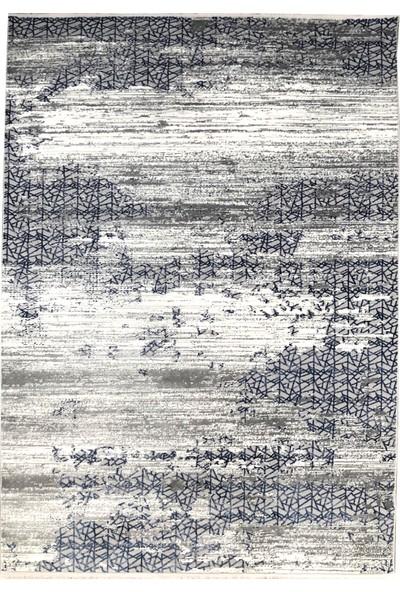 Payidar Halı Klasik 1876 Gri-Mavi 80x150 cm Spor Saçaklı Halı