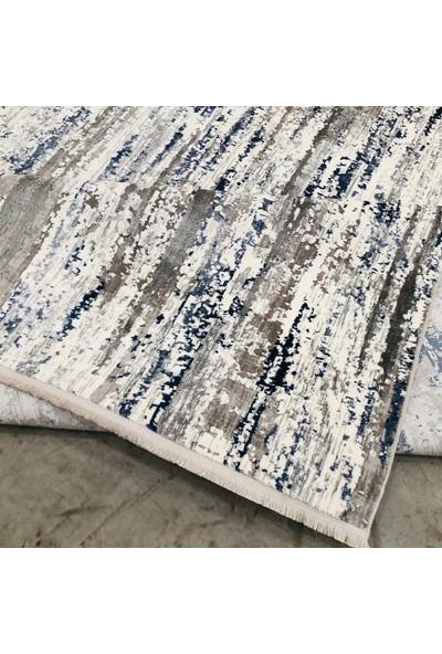 Payidar Halı Klasik 2554 Gri-Mavi 80x150 cm Spor Saçaklı Halı
