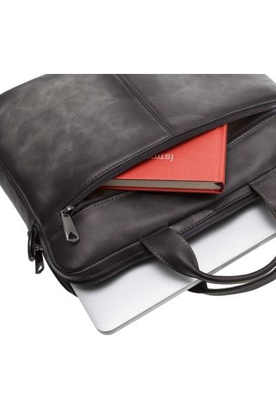 Bouletta Apollo Deri Notebook Evrak Çantası - Gri