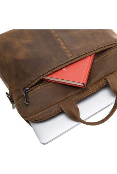Bouletta Apollo Deri Notebook Evrak Çantası - Kahverengi