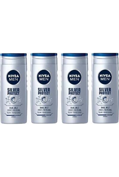 Nivea Silver Protect Erkek 4'lü Duş Jeli 250 ml