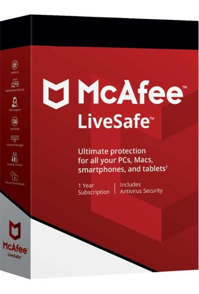 McAfee Livesafe 2019 1 Yıl 10 Kullanıcı Antivirüs