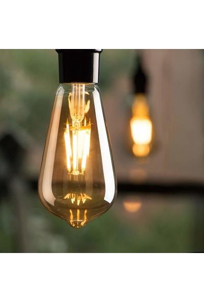 Osaka Edison ST64 Flamanlı Dekoratif Rustik 4W LED Ampul 10'lu