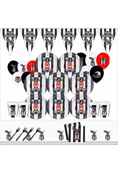 Bayhesaplı Beşiktaş Doğum Günü Parti Seti 16 Kişilik