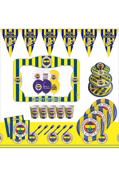 Bayhesaplı Fenerbahçe Doğum Günü Çerçeveli Parti Seti 16 Kişilik