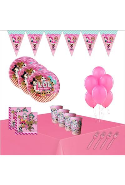 Bayhesaplı Lol Bebek Doğum Günü Parti Seti 24 Kişilik