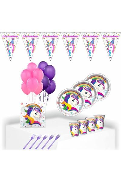 Bayhesaplı Unicorn Doğum Günü Parti Seti 8 Kişilik