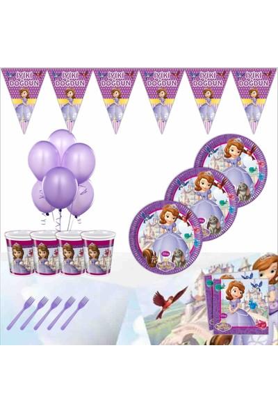 Bayhesaplı Sofia Doğum Günü Parti Seti 24 Kişilik