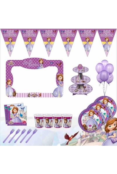 Bayhesaplı Sofia Doğum Günü Çerçeveli Parti Seti 8 Kişilik