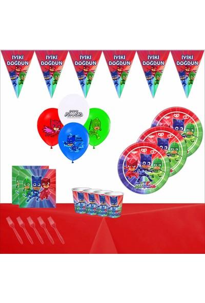 Bayhesaplı Pj Maske Pijamaske Doğum Günü Parti Seti 24 Kişilik