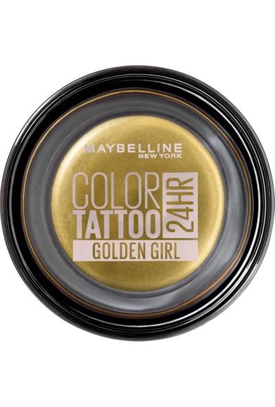Maybelline New York Color Tattoo 24Hr Krem Göz Farı - 200 Golden Girl- Altın Sarısı