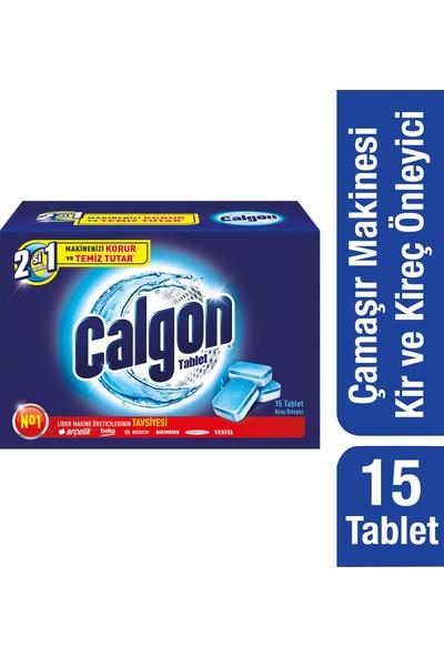 Calgon Çamaşır Makinesi Kireç Önleyici Tablet 15'li