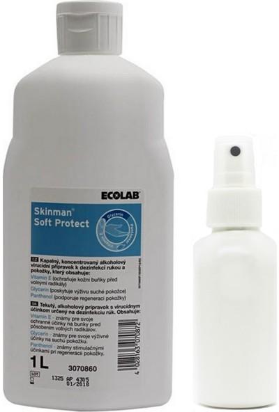 Ecolab Skinman Soft El Dezenfektanı 1 Litre - Çanta Boy Sprey Şişe