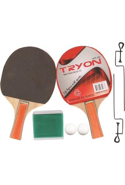 Tryon Mts 50 Masa Tenisi Raket Seti 2Rk.3 Top Unisex Masa Tenis Raketi