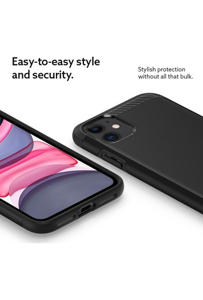 Caseology iPhone 11 Kılıf Legion Matte Black - 076CS27205