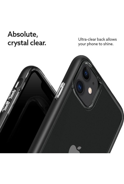 Caseology Apple iPhone 11 Kılıf Skyfall Matte Black - 076CS27200