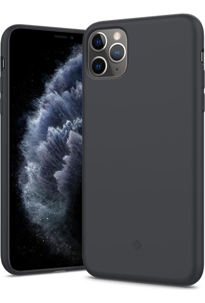 Caseology Apple iPhone 11 Pro Max Kılıf Nano Pop Charcoal - ACS00223