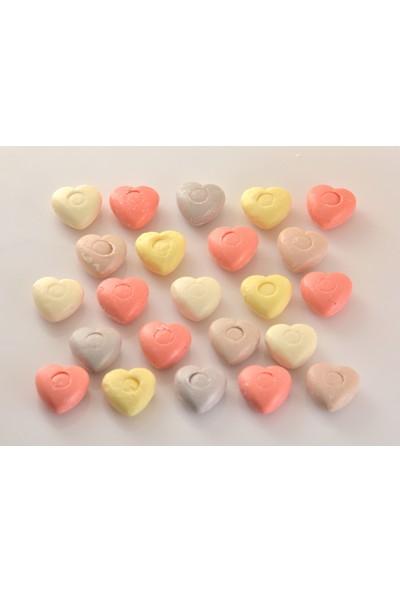 Şifamarketim Dekoratif Minyatür Kalpli Sabun 20 Adet Karışık