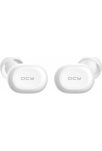QCY T2C Çift Mikrofonlu Şarj Edilebilir Bluetooth Kulaklık V5.0 Beyaz
