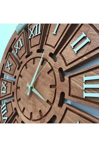 Yapı Burada Dekoratif Ahşap Duvar Saati 60 cm