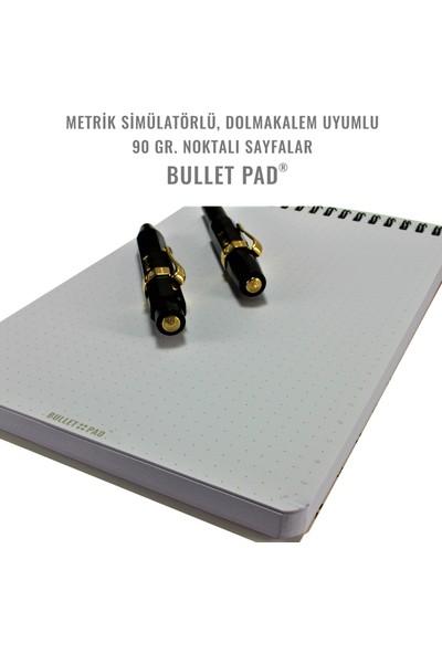 Bullet Pad Iceblack Noktalı Defter Spiralli