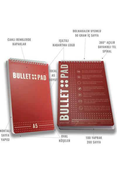 Bullet Pad Berrywhite Noktalı Defter Spiralli