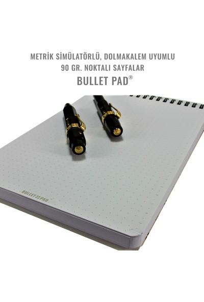 Bullet Pad Mintwhite Noktalı Defter Spiralli
