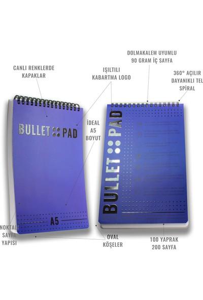 Bullet Pad Grapeblack Noktalı Defter Spiralli
