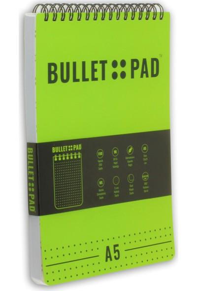 Bullet Pad Kiwiblack Noktalı Defter Spiralli