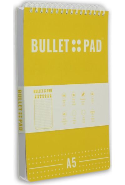 Bullet Pad Lemon White Noktalı Defter Spiralli