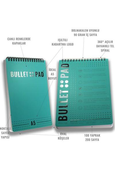 Bullet Pad Mintblack Noktalı Defter Spiralli