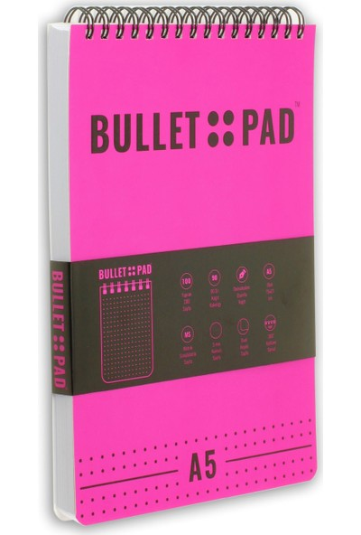 Bullet Pad Sakurablack Noktalı Defter Spiralli