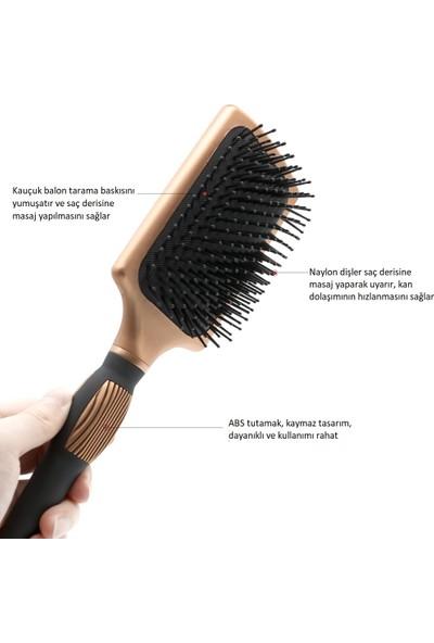 Land Of Myth Rose Gold Lüx Saç Fırçası, Saç Açma, Fön Fırçası, Nano Teknoloji, Seramik, Antistatik
