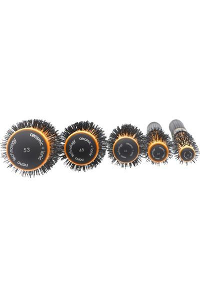Land Of Myth - LOM1080 Nano Teknoloji Seramik+İyonik, Termal Fön Saç Fırçası Antistatik
