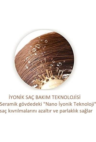 Land Of Myth - LOM1100 Nano Teknoloji Seramik+İyonik, Termal Fön Saç Fırçası, Antistatik