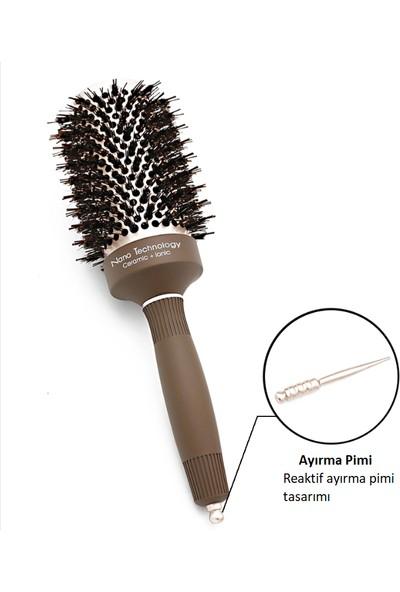 Land Of Myth - LOM1170 Nano Teknoloji Seramik+İyonik, Termal Fön Saç Fırçası, Antistatik