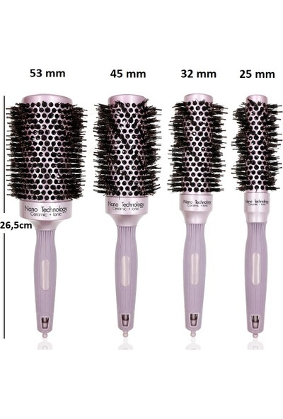 Land Of Myth - LOM1180 Nano Teknoloji Seramik+İyonik, Termal Fön Saç Fırçası, Antistatik