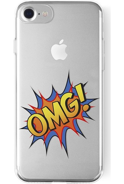 La Vie La Vie Soft Case Print Apple İphone 6 / 6s / 7 / 8 R.Vergish Omg! - Tasarım Kılıf