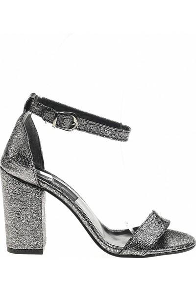 Derigo Antrasit Kadın Topuklu Ayakkabı