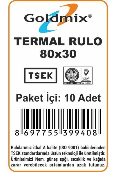 Goldmix 80 x 30 Termal Rulo 10'lu Paket