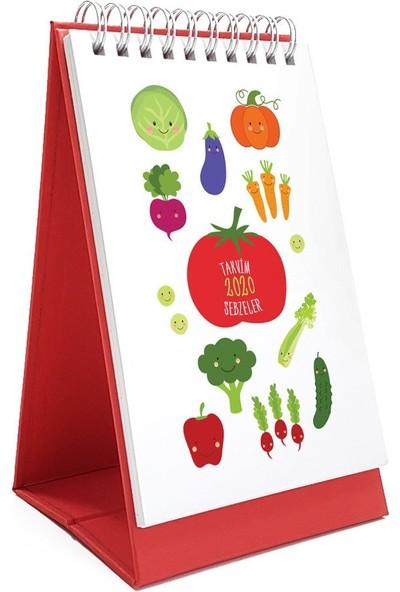 Bialdım Sebzeler Serisi Masa Takvimi 2020 - Kırmızı