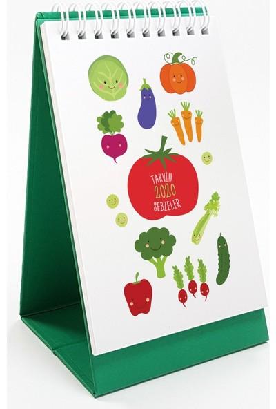 Bialdım Sebzeler Serisi Masa Takvimi 2020 - Yeşil